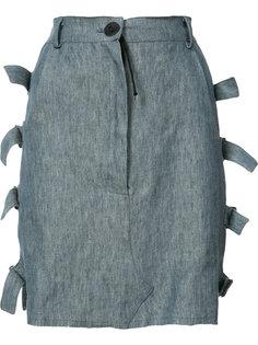 юбка с необработанным подолом Area Di Barbara Bologna