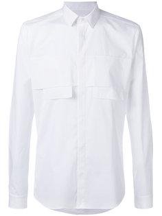 рубашка с нагрудными карманами Les Hommes