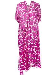 асимметричное платье с цветочным узором Christian Wijnants