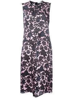 атласное платье с цветочным узором Christian Wijnants