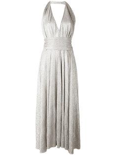 плиссированное платье с вырезом халтер Stephan Janson