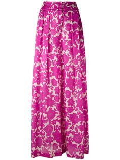 широкие брюки с цветочным узором Christian Wijnants