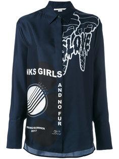 рубашка с броским принтом Stella McCartney