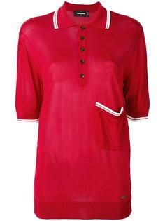 рубашка-поло свободного кроя Dsquared2