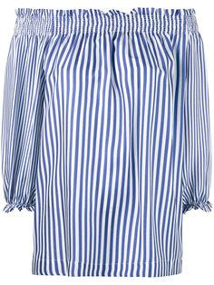 полосатая блузка с открытыми плечами P.A.R.O.S.H.