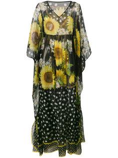 платье макси с цветочным принтом Dolce & Gabbana