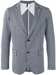 пиджак с полосатым узором Armani Jeans