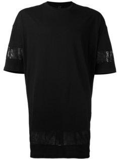 футболка с отделкой из органзы Odeur