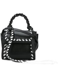 сумка с контрастной строчкой Elena Ghisellini