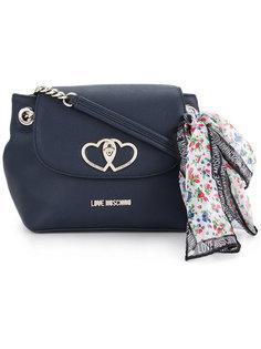 сумка через плечо с платком Love Moschino