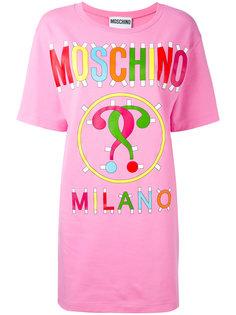 платье-футболка с логотипом Moschino