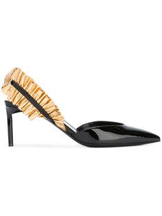 туфли с контрастной деталью на ремешке Saint Laurent