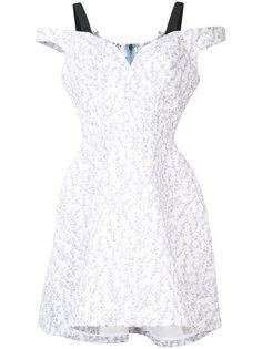 структурированное платье с цветочным узором Natasha Zinko