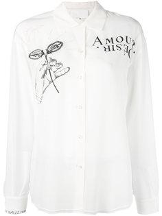 рубашка с принтом Maison Margiela