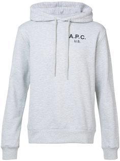 толстовка с капюшоном и логотипом A.P.C.