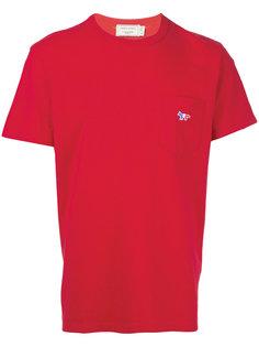 футболка с нагрудным карманом Maison Kitsuné