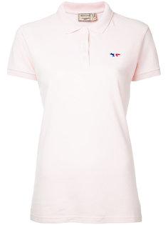 рубашка-поло с вышивкой Maison Kitsuné