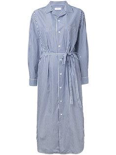 платье-рубашка миди в полоску En Route