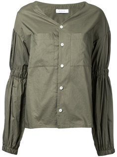 блузка с V-образным вырезом и сборками En Route