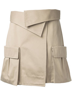 юбка с накладными карманами Monse