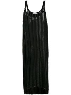 платье в складку длины миди Aviù