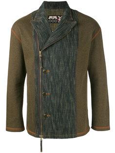 байкерский пиджак с выцветшими джинсовыми панелями Jean Paul Gaultier Vintage