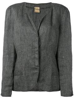 пиджак без воротника с подвернутыми лацканами Krizia Vintage