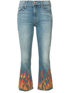 потертые укороченные джинсы Insider Mother