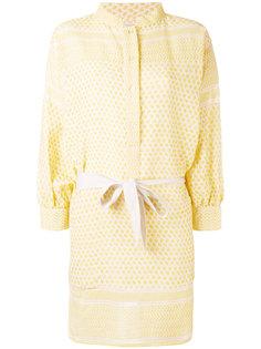 платье-рубашка с поясом и мелким узором Rough Studios