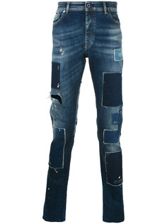 зауженные джинсы со вставками  Diesel Black Gold