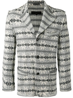 пиджак с узором фер-айл Comme Des Garçons Vintage