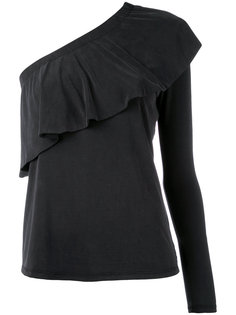 single sleeve ruffled blouse Just Female