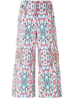 укороченные брюки с цветочным принтом Miahatami