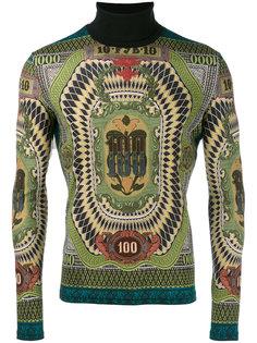 свитер с высоким воротником и декором в виде 100-долларовой купюры 1994 года выпуска Jean Paul Gaultier Vintage