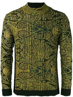 ребристый свитер с принтом Jean Paul Gaultier Vintage