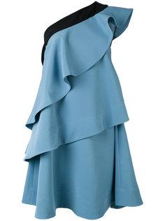 платье на одно плечо с оборками Miahatami