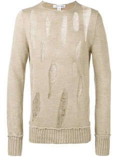 свитер с декоративными дырами Comme Des Garçons Shirt