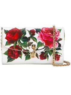 сумка через плечо с изображением роз Dolce & Gabbana