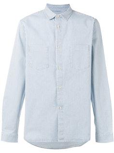 полосатая рубашка с нагрудными карманами A.P.C.
