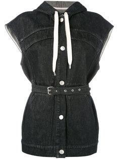 джинсовый жилет с поясом Isabel Marant