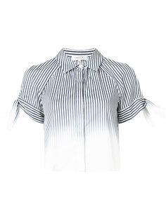 рубашка в полоску с прорезями на плечах  Milly