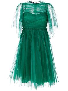 плиссированное длинное платье  Rochas