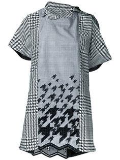 платье шифт с драпировкой Sacai
