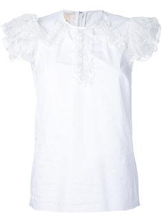 блузка с оборками на рукавах  Giambattista Valli