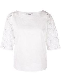 блузка с ажурными рукавами Blugirl