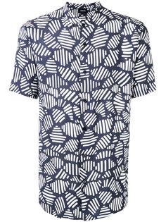 рубашка с узким воротником и рисунком Armani Jeans