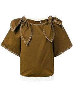 блузка с завязками на плечах Chloé