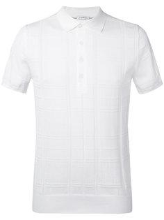 футболка-поло с декоративной строчкой  Paolo Pecora