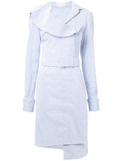 полосатое платье с поясом Monse