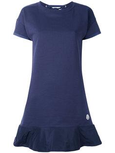 трикотажное платье с контрастной окантовкой Moncler